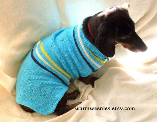 WarmWeenies Dachshund Tennis Sweater